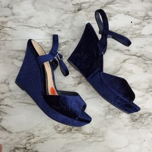 Rampage Crissy Wedges Navy Blue 11